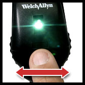 welch allyn ophthalmoscope with aperture selection disc
