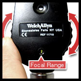 welch allyn ophthalmoscope with a lens selection disc
